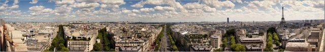 Panorama vom Arc de Triomphe