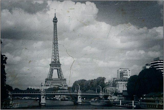 Stadtansicht mit Eiffelturm
