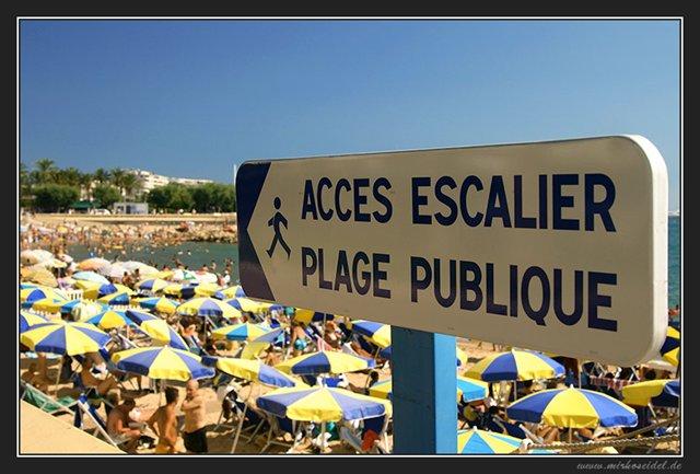 Am Strand von Cannes