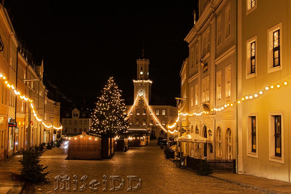 Schneeberg - weihnachtliche Beleuchtung